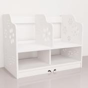 Revesun DIY Multi-Use Wooden Desk Organiser Small Objects Cosmetics Storage Box bookcases storage ZW-002-C