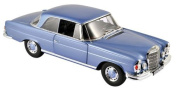 1969 Mercedes 280 SE Coupe Light Blue Metallic 1/18 by Norev 183532