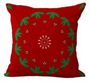 The Star Red Petal Arts Painting Massager Pillows Case Cover Vintage Massage Sofa Car Pillows Fibre Case Cover Zip DIY Travel Flax Cotton Linen Home Decor Kids Gift 46cm x 46cm
