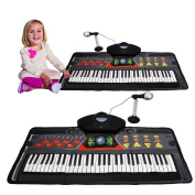 Toy Cubby Musical Play Mat Keyboard with Mic and Stand.