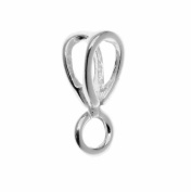 Sterling Silver Open Slider Bail 13.5mm Perpendicular Ring