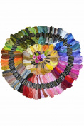 OUR Fashion 150 Skeins of Cross Stitch Threads 8M Cotton Embroidery Floss Sewing Threads Random Colour