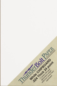 50 Sheets Chipboard 24pt (point) 13cm X 18cm Light Medium Weight White Coated on Light Grey Photo|Card Size .024 Calliper Thick Paper Cardboard Craft|Packaging PaperBoard