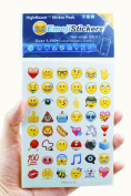 Newest Emoji Stickers 28 Sheets from IOS 9.1 2016 Include the Most Popular Emoji Faces Kids Stickers for iphone, 48pcs/sheet - Blue