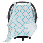 Maddie Moo Muslin Carseat Canopy - Best Car Seat Canopy for Popular Baby Carseat Models. Covers All Popular Car Seats. Breathable Muslin Fabric.