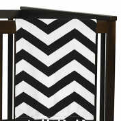 Black and White Chevron Plush Fleece Throw Receiving Crib Baby Girl Blanket