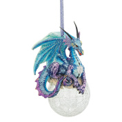 Design Toscano Frost The Gothic Dragon 2013 Holiday Ornament, Full Colour, Set of 3