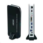 Unitek Y-3704, USB 3.0 Universal Docking Station. Includes 1x Ethernet Port, 1x HDMI Port, 2x 3.5mm