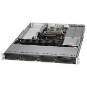 "Supermicro 5018R-WR Barebone, 1U, 1x LGA2011-3, 4x 3.5"" Hot-Swap, 2x GbE, 8x DIMM, 2x 500W Redundant"