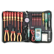 ProsKit 1000V VDE Hi-Insulated Tool Kit (Metric) 24Pcs In 1 With Battery Operated Soldering Iron