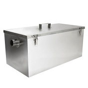BEAMNOVA Commercial 11kg 13GPM Gallon Per Minute Grease Trap Stainless Steel Kitchen Kit Grease Interceptor