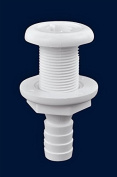 Attwood Marine 1.6cm I.D. White Thermoplastic Resin Thru-Hull Connector Fitting