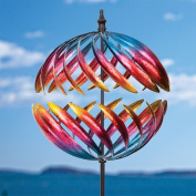 Bits and Pieces - Magnificent Jupiter Two-Way Giant 60cm Diameter Wind Spinner - Multicolor Kinetic Garden Windspinner - Decorative Lawn Ornament Wind Mill - Unique Outdoor Lawn and Garden Décor