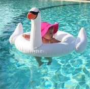 Santfe Swan Shape Inflatable Floats Ride-on Toys Baby Seating Swim Rings Pool Float
