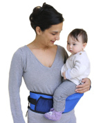 Pomfitis Side Ride Baby Toddler Hip Seat Carrier, Blue