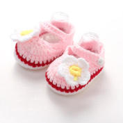 Baby Shoes,Amlaiworld Crib Crochet Casual Baby Girls Handmade Knit Sock Roses Infant Shoes