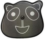Set of 2 Black Panda Design Twister Sun Blinds/Shades