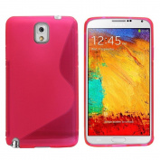 Premium for for for for for for for for for for Samsung Galaxy Note 3 Case Cover Hot Pink Case Cover Silicone Gel S-Line Wave Design Case Cover For for for for for for for for for for for Samsung Galaxy Note 3 Case Cove