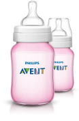 Philips Avent Classic + Pink Feeding Bottle, 260ml