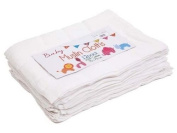 White 100% Cotton 12 Pack Baby Muslin Cloths