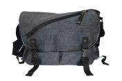 Canvas Carry Shoulder Messenger Bag Versatile Purpose -Diagonal Zip