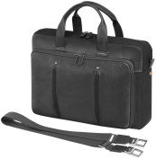 Web Milled-Grain Leather and Nylon 2 File Laptop Holder by Giorgio Fedon 1919