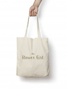 The Flower Girl Tote Bag GOLD Quality Natural Cotton Shopper Engagement Wedding