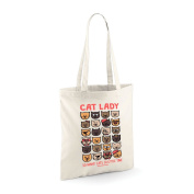 David and Goliath Tote Bag - Cat Lady