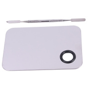 Lalang Stainless Steel Cosmetic Nail Art Colour Makeup Palette Spatula Tool