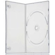 25 X Single Clear Slim 7mm Spine DVD/CD/BLU RAY Case - Branded Dragon Trading®