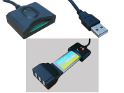 Kalea-Informatique © Expresscard to USB 2.0 Converter Adaptor for Express Card Type 34 or 54