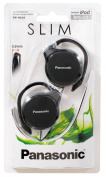 Slim Panasonic RP-HS46E-K On-Ear Clip Type Earphones / Ergonomic Design / Headphones use for Mobile Smart Phone, Tablet, Laptop, PC / iCHOOSE / Black