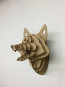 Large/ Small Wooden Fox Trophy Animal Head Wall Art Decor - Laser Cut 3D Wall Hanging