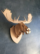 Large/ Small Wooden Moose Trophy Animal Head 3D Wall Art Decor-3D DIY Laser Cut