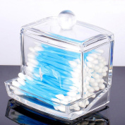 Oriskey Clear Acrylic Cotton Swabs and Ball Holder Box / Makeup Cosmetics Pads Organiser / Q-tip Storage Case / Toothpick Container
