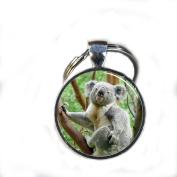 Koala Keychain,gorgeous Keychain, Mimi Keychain Koala Charm Everyday Gift Key Chain, Unique Key Ring Customised Gift Silver Koala Charm