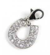 Minott Horseshoe Charm with Zirconia Pendant without Chain 925 Silver CMM025