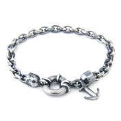 Anchor & Crew Sterling Silver Salcombe Bracelet of 21cm