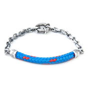 Anchor & Crew Sterling Silver Blue Solid Derry Bracelet