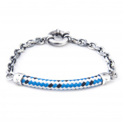 Anchor & Crew Sterling Silver Blue Dash Derry Bracelet