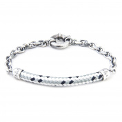 Anchor & Crew Sterling Silver Grey Dash Derry Bracelet