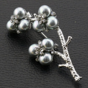 Ukerdo Plum Flower Brooch Pin Vintage Pearl Brooches for Women Accessories