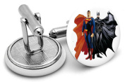 Superman and Batman Cufflinks - supplied in gift pouch