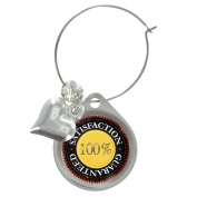 Seal of Satisfaction Wine Glass Charm with Decorative Beads
