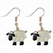 Drop Earring Bah Bah Sheep (White) Made With Zinc Alloy & Iron by JOE COOL