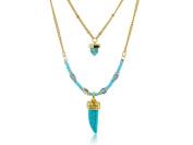 Remi Bijou - Beautiful 2 Layers Marble Stone and Bead Necklace