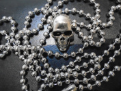 """48 inch Unique quality detail SILVER SKULL necklace 4 mm 48"""" INCH Ball Chain necklace"""