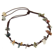 Bracelet - Earring - Necklace - Anklet with Natural India-Agate stones