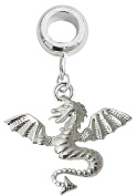 Silver Dragon charm - fits all type of pandora bracelets & necklaces