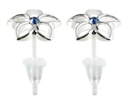 Hypoallergenic plastic post flower stud earrings - you get 3 pair each colour